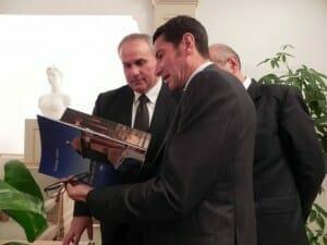 David Lisnard, sindaco di Cannes (a destra), Stefano Cardinali (a sinistra)